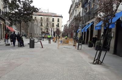 Rehabilitación de espacios públicos con pavimentos especiales en el Distrito de Centro de Madrid